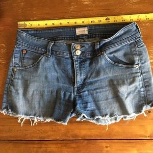 Cut off jean shorts.